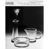 Pressed Glass Collection, bud vase, sugar bowl and cream pitcher