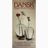 Dansk Design Ltd, annons, Bouqet and Petite vase, 1981